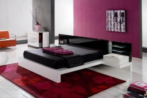 New Bed modern bed with a dominance of red color in the bedroom | home