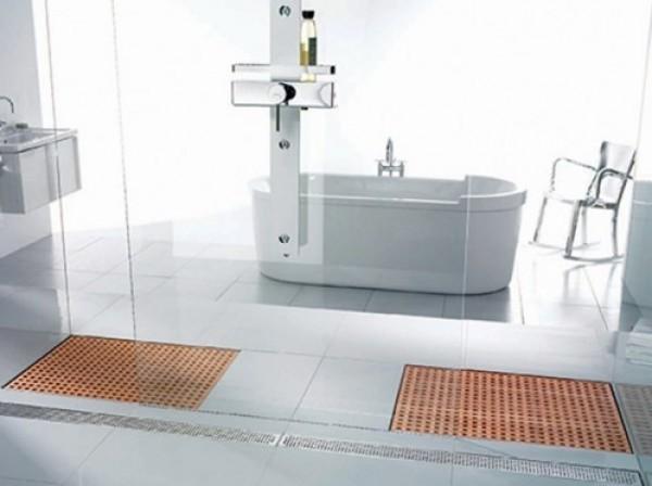 Latest Wooden Shower Design Grate Drains