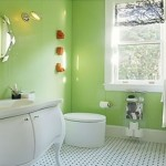 Latest Green Bathroom Interior Design Image