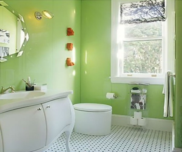 Green interior design and furniture interior design for Bathroom interior design