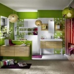 Cool Green Bathroom Interior Decorating Image