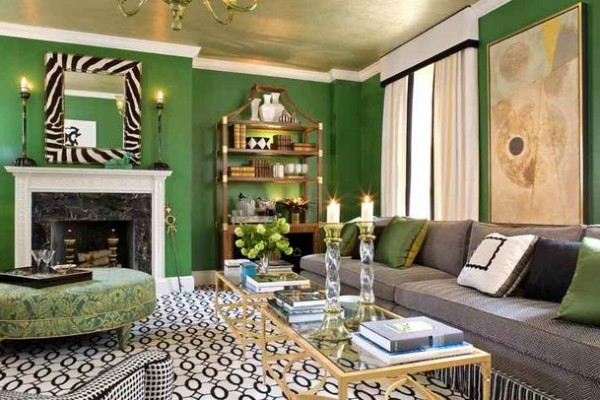 Outstanding Green Living Room Interior Design 600 x 400 · 82 kB · jpeg