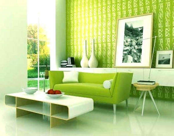 New Green Interior Design Model