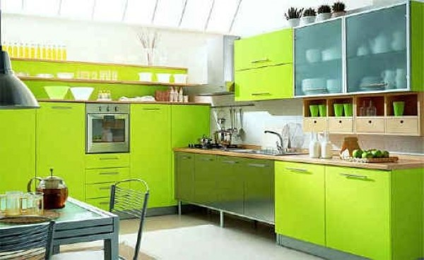 Green kitchen interior design photos home interior for Modern green kitchen designs
