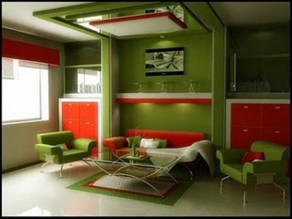 Riveting Green Interior Design Concept Green Room Interior Design