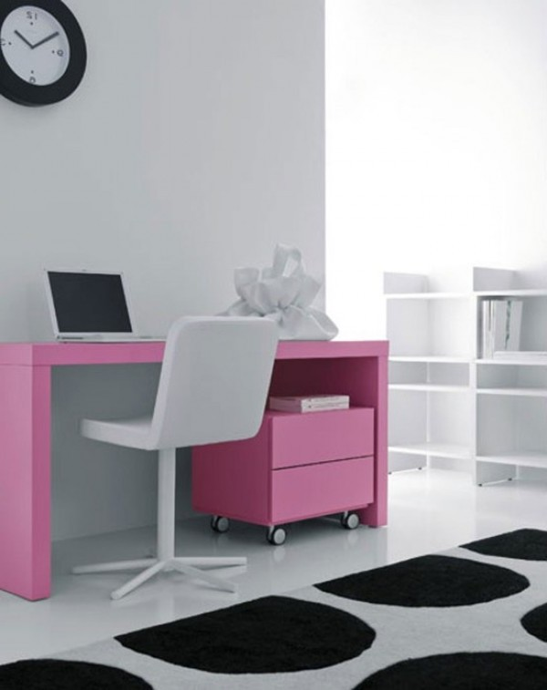 Awesome Sleek Desk Design Of Pianca Latest Pink Pictures