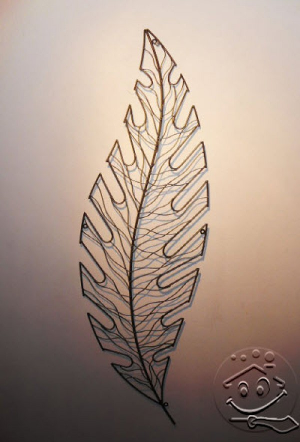 Leaf Metal Art For Wall Accessories Home Interior Design Ideas