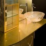 Modern and Elegant Gold Vanities Design