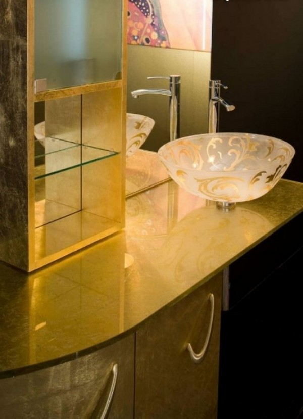 Modern and Elegant Gold Vanities Design