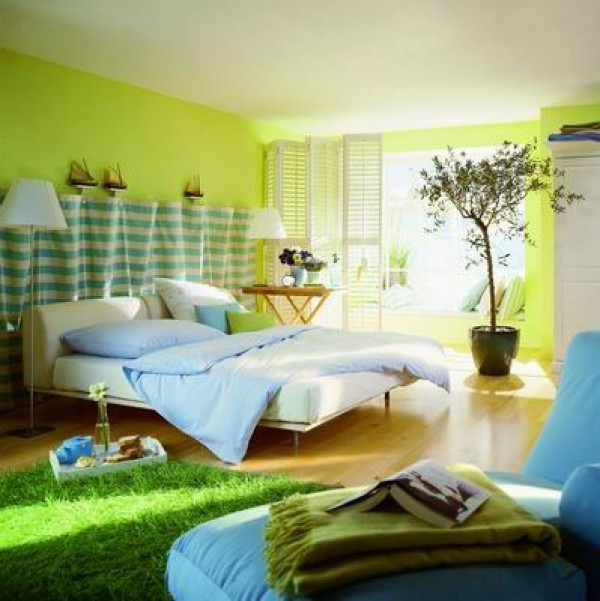 Modern Green Interior Home Decor