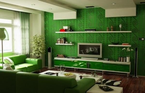 Riveting Green Interior Design Concept Light Green Interior Design