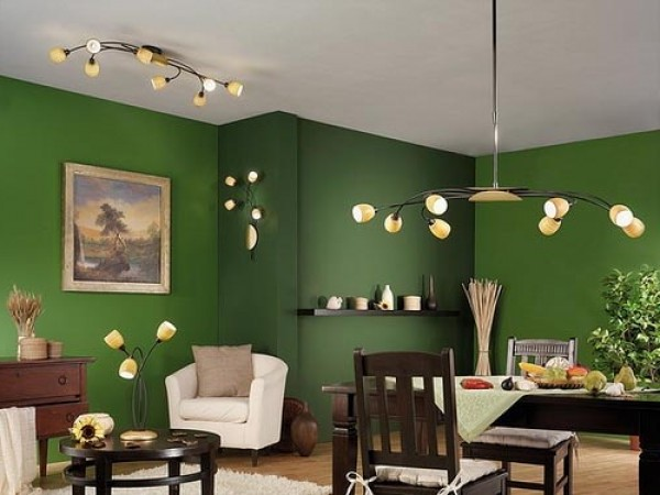 green interior design concept modern minimalist green interior design ...