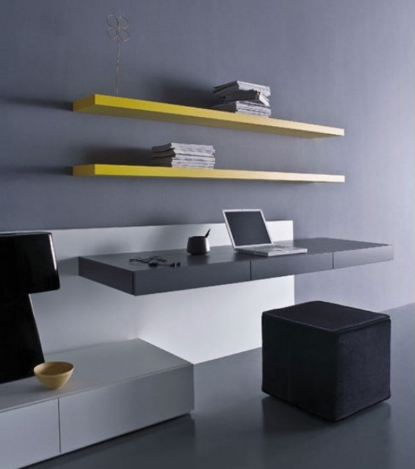 awesome sleek desk design of pianca modern suspended desk design