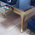 The Flap Table Luxury Gold Dining and Pool Table