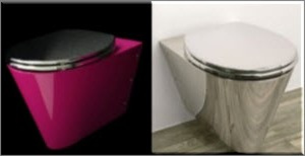 Modern minimalist toilet design concept home interior design ideas - Wc c olour grijze ...