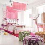 Attractive Pink Bedroom Design Model