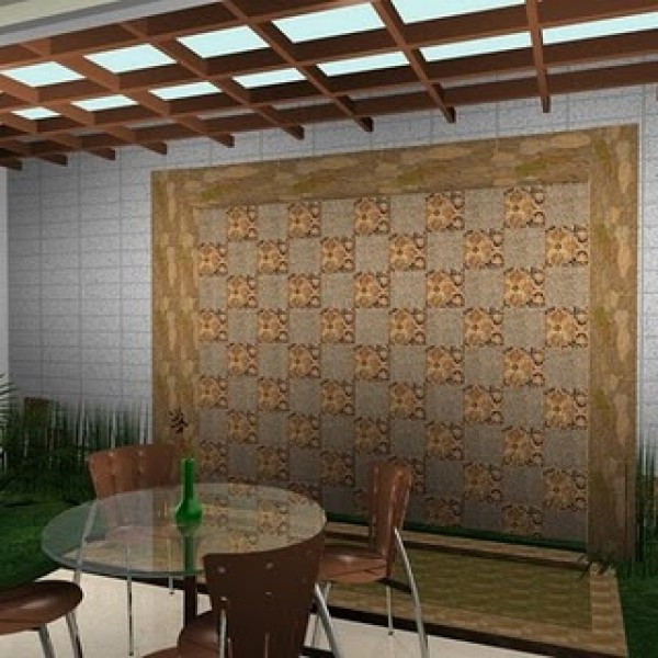 Fantatsic Home Terrace with Batik Design