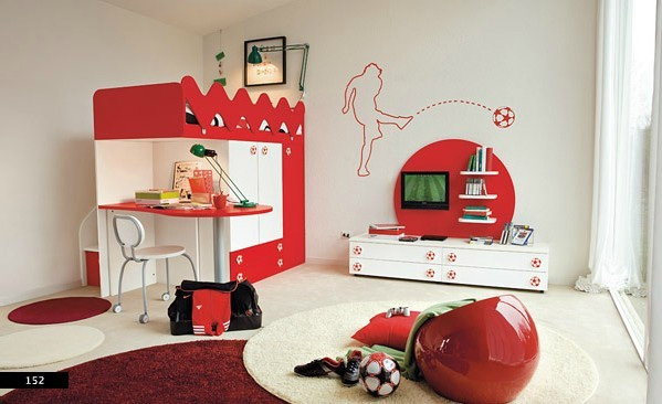 Kids Bedroom Model amazing kids bedroom design with red theme | home interior design