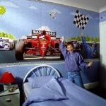 Artistic Kids Bedroom Wallpaper