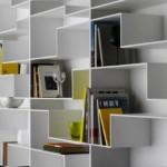 Unique Angular Bookshelf Design