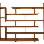 Modern Angular Wooden Bookshelf Design