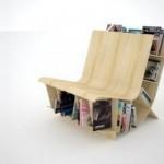 Chair Bookshelf Design