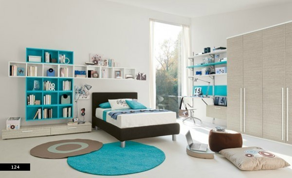 blue white kids bedroom design ideas - Bedroom Design Kids