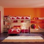 Orange Berloni Double Bedroom Design for Kids