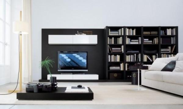 Black Wall Unit Entertainment Center | Home Interior Design Ideas