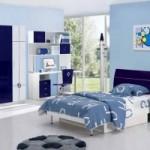 Contemporary Blue Bedroom Design