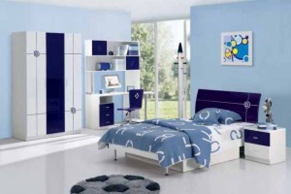 Contemporary Blue Bedroom Design