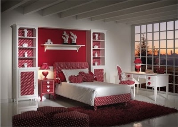 Brilliant Red Amazing Bedrooms for Teenage Girls 600 x 430 · 64 kB · jpeg