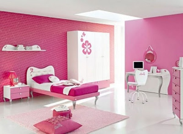 Contemporary Pink Barbie Bedroom Design