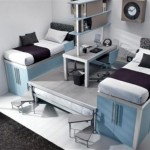 Futuristic Loft and Bunk for Kids and Teenager Bedroom Decor