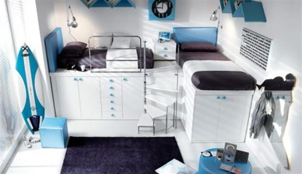 Charming Loft and Bunk for Kids and Teenage Bedroom Design