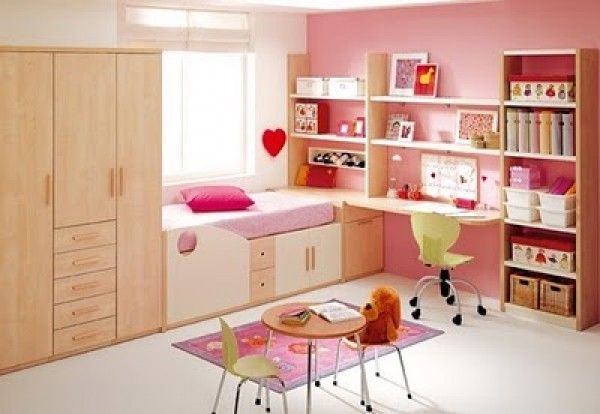 Good Idea for Pink Girls Bedroom Design