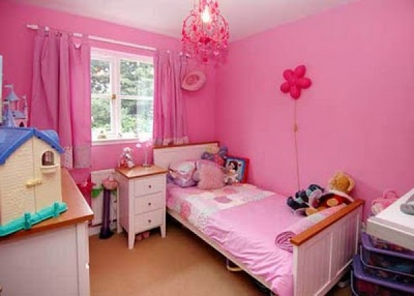 Cute pink color bedroom interior design home interior for Interior design bedroom pink