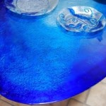 Awesome Marine Glass Dining Table Design