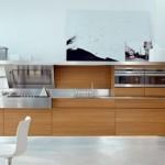 Elm Finish Wooden Kitchen Design Concept