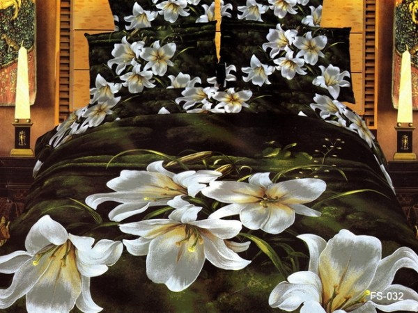 Fantastic Japan Bed Linen with Black White Orchid motive