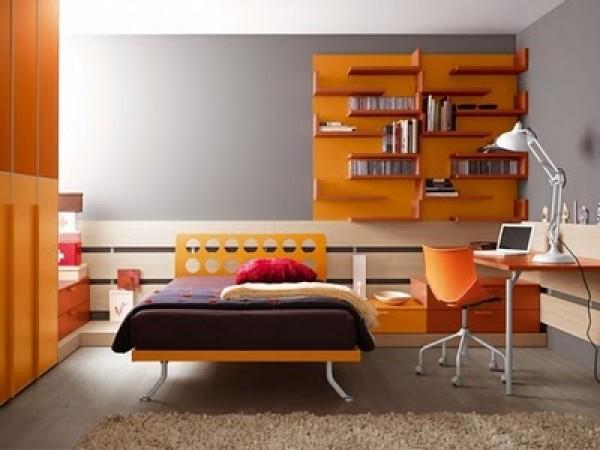 Modern and Amazing Teenage Bedroom Decor Gallery Fantastic Orange