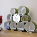 Amazing Flexi Tube Wall Units Bookshelf Design Model