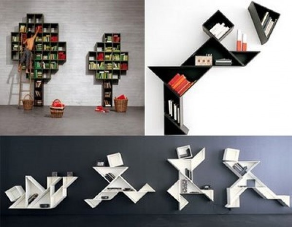 Bookshelves Designs for Home 600 x 466