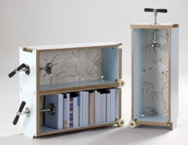 Futuristic Bookshelf Design