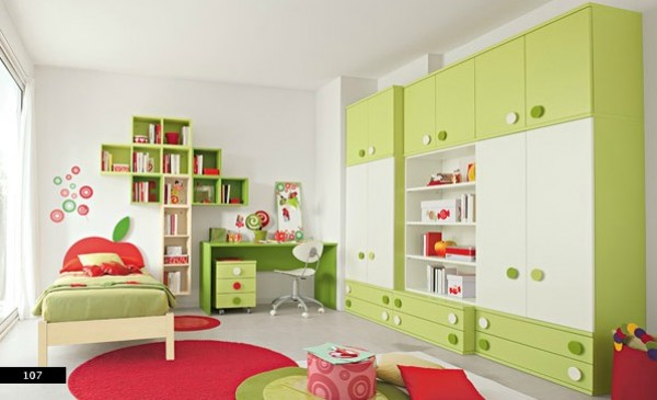 Awesome Green White Kids Bedroom Design Archive