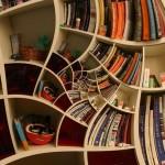 Fantastic Impossible Spiral Bookshelf Design Ideas