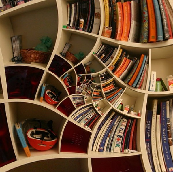 Impossible Spiral Bookcase Design | Home Interior Design Ideas