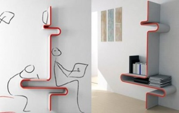 ... Innovative Bookshelf Design Model ...