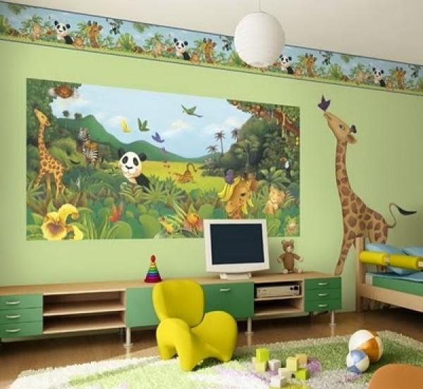 Kids Bedroom Jungle Theme jungle themed kids bedroom decor | home interior design ideas