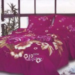 Fantastic Large Japan Bed Linen with Fanta Red Flower Motif